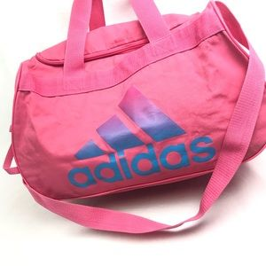 Adidas pink duffle travel gym sport bag